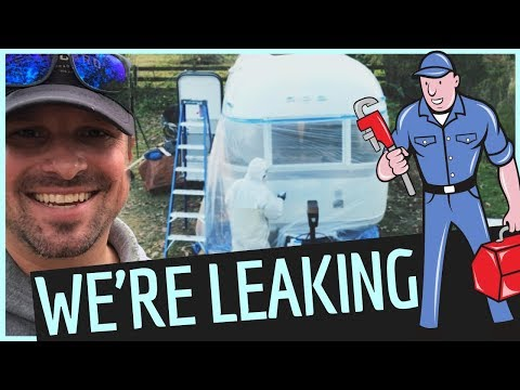 WE HAVE LEAKS in our PLUMBING 😬 Airstream Renovation Custom Plumbing
