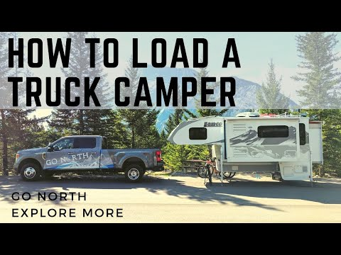 How to Load and Unload a Truck Camper on a Pickup Truck | Go North Explore More