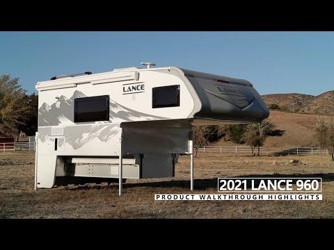 Lance 960 Truck Camper | Floor Plan Walkthrough & Feature Highlights