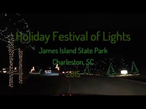 Charleston Festival of Lights - Drive Thru Christmas Lights Show - Hyperlapse