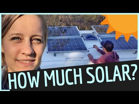 HOW MUCH SOLAR POWER Does My RV NEED? 🌞Off Grid Airstream Renovation & RV LVING