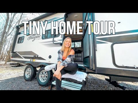 Tour Our 2021 Grand Design Imagine Travel Trailer + Before & After Reveal!   Full-Time RV Living