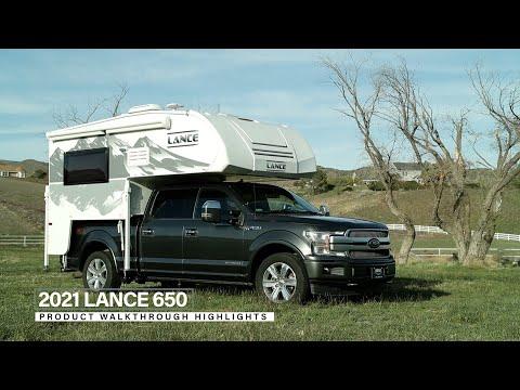 Lance 650 Truck Camper | Floor Plan Walkthrough & Feature Highlights