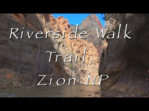Riverside Walk Trail, Zion National Park Video (HD)