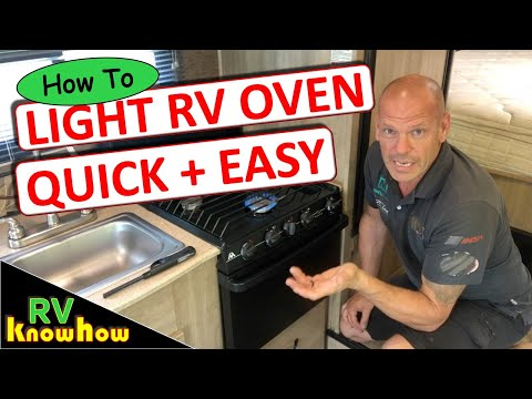 How to light an RV oven pilot light, quick and easy guide.