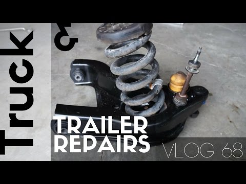 Broken Trailer Wheel Stud and Rebuilding the Front end of the Ram 3500 - VLOG 68