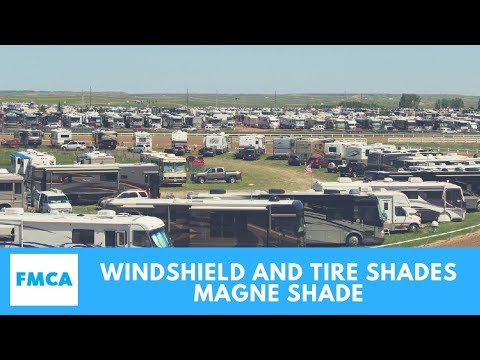 Magne Shade Motorhome Windshield Shades and Tire Shades
