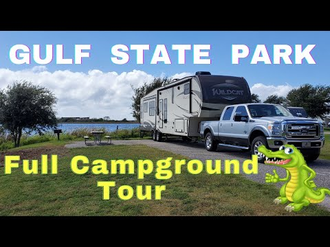 Gulf State Park Campground Complete Drive Through With Site Numbers