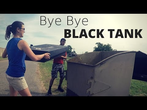 Bye Bye Black Tank! - Installing an Airhead Composting Toilet and removing our RV's black Tank