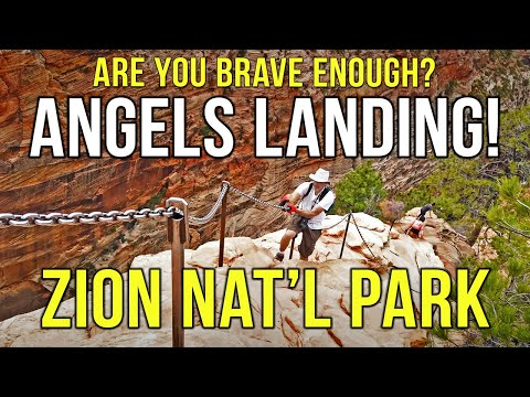 Zion National Park Angels Landing Hike — Chains to the Summit! Not For The Faint of Heart!