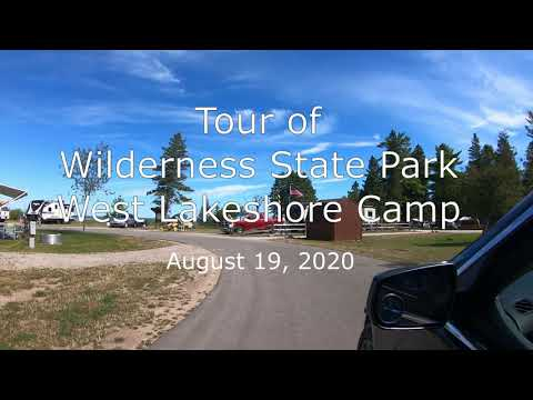Wilderness State Park, MI West Lakeshore Campsite Tour