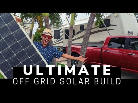 Ultimate RV Off-Grid Solar System Build - 2760 Watts of Solar ☀️ 11Kwh Battery, on a 32' Fifth wheel