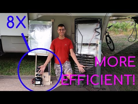 Converting our RV Fridge to a High Efficiency DC Compressor- 8x More Efficient! and Better Cooling!