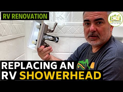 RV Shower Faucet and Shower Head Replacement