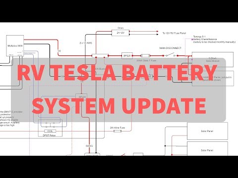RV Tesla Battery Install - System Simplification and Improvements , Schematic Walk through