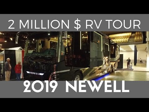 Tour a $2 Million Dollar Luxury RV! | 2019 Newell Coach Walkthrough seen at the 2018 Tampa RV Show