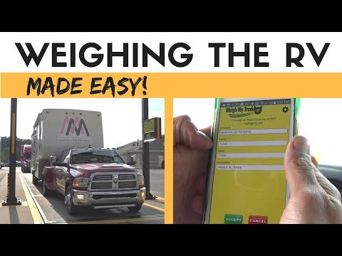 Weighing the RV the easy way with the Weigh my Truck App | How and why to weigh your RV or Motorhome