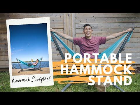 Best Portable Hammock Stand - Kammok Swiftlet - The lightest on the market!!!