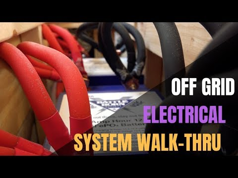 RV Electrical System Walk Thru In An Off Grid Optimized Airstream - Solar, Lithium batteries