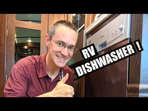 """RV DISHWASHER Install & Review   Furrion 18"""" Built in"""