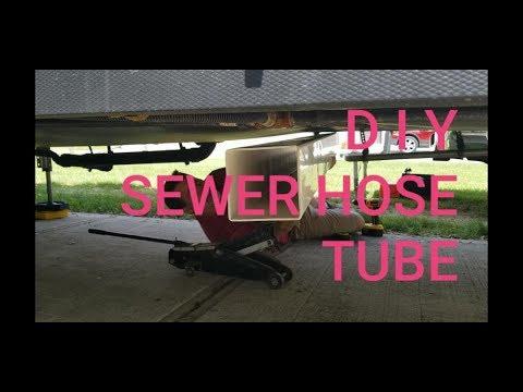 RV Sewer hose storage ~ DIY