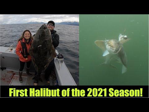 60lb Halibut to Kickoff the 2021 Season! Alaskan Fishing - Juneau, Alaska!
