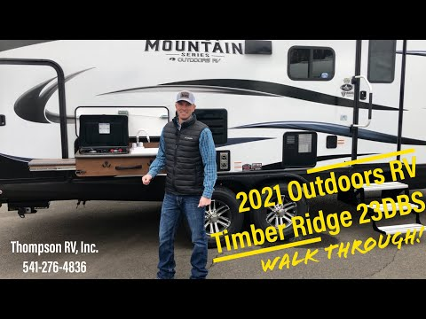 New 2021 Outdoors RV Timber Ridge 23DBS Mountain Series Four Season Trailer Walk Through