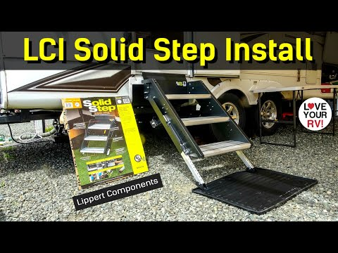 Installing the Solid Step RV Entrance Stairs by Lippert Components