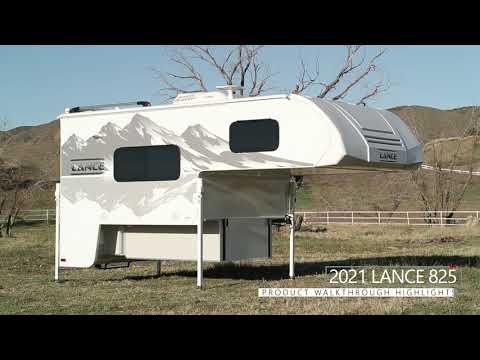 Lance 825 Truck Camper | Floor Plan Walkthrough & Feature Highlights
