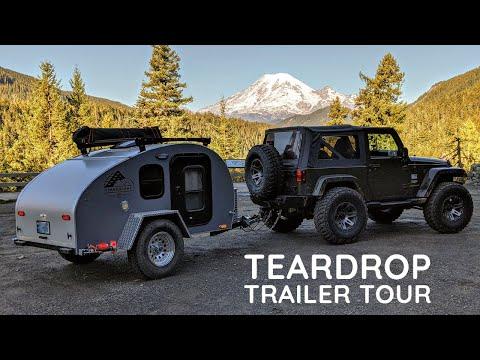 Teardrop Camping Trailer Tour   2020 Timberleaf Trailer