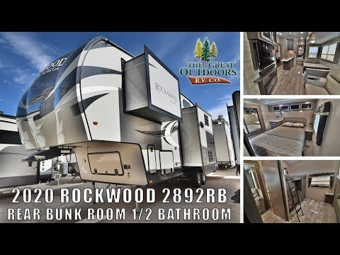 Updated 2020 ROCKWOOD 2892RB 1/2 bathroom Bunkhouse Outside Kitchen Fifth Wheel RV Camper