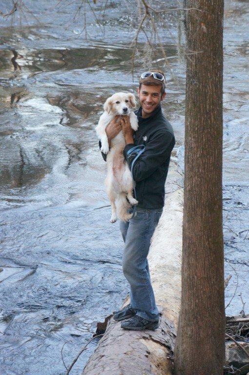 dog at o'leno state park