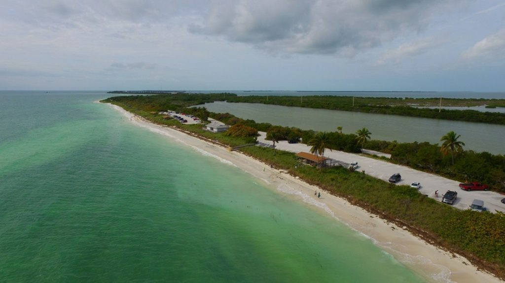 Bahia Honda beach in florida aerial