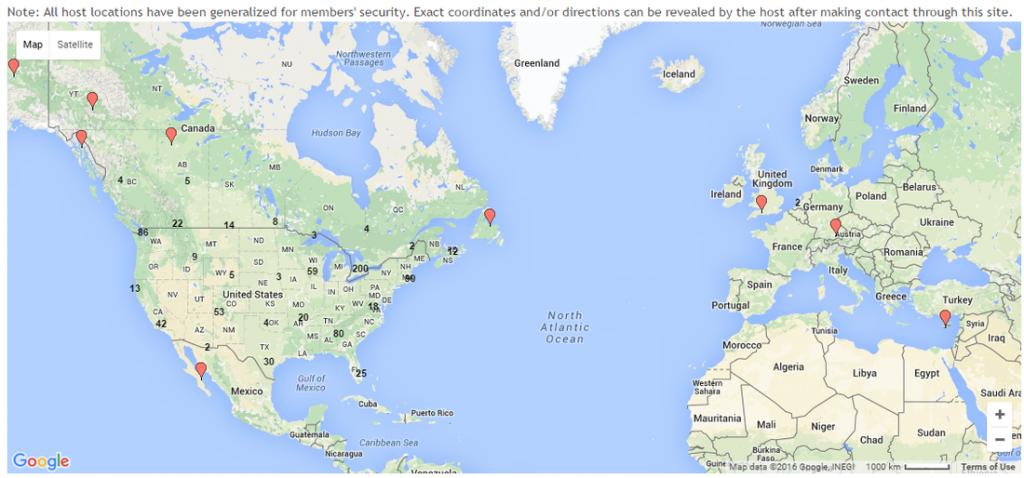 boondockers welcome global map