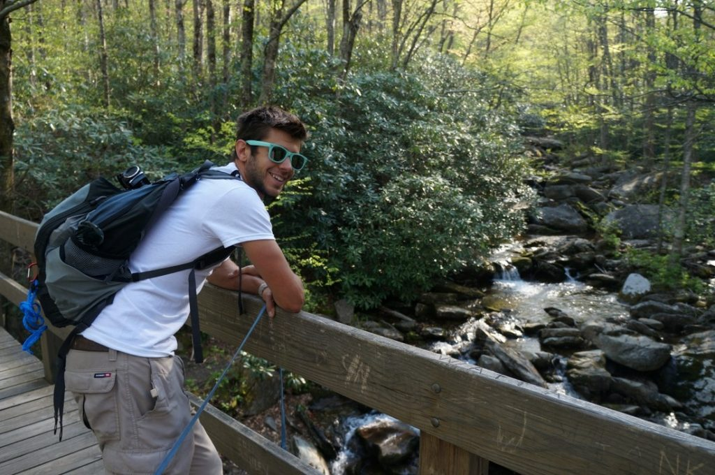 stream along hiking trail