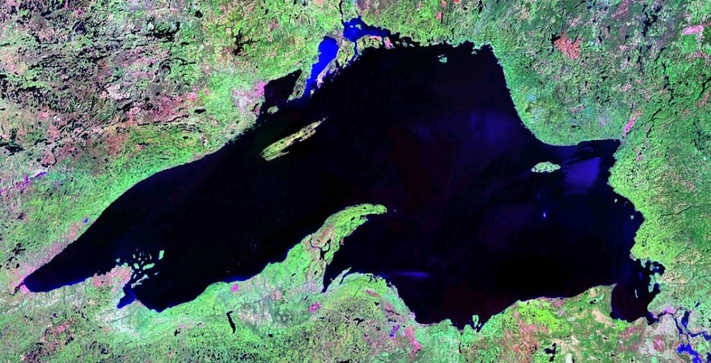 lake superior satellite image