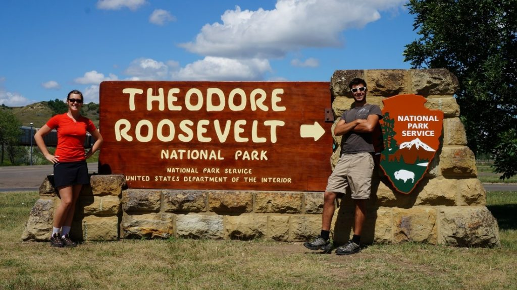 theodore roosevelt national park sign medora south unit