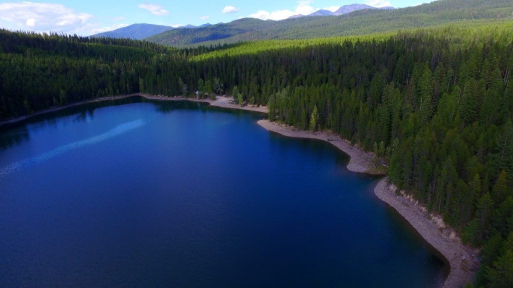 free camping near glacier national park, hungry horse reservoir