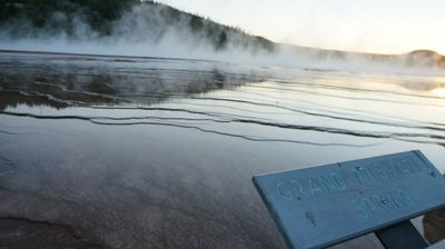 grand prismatic at sunset