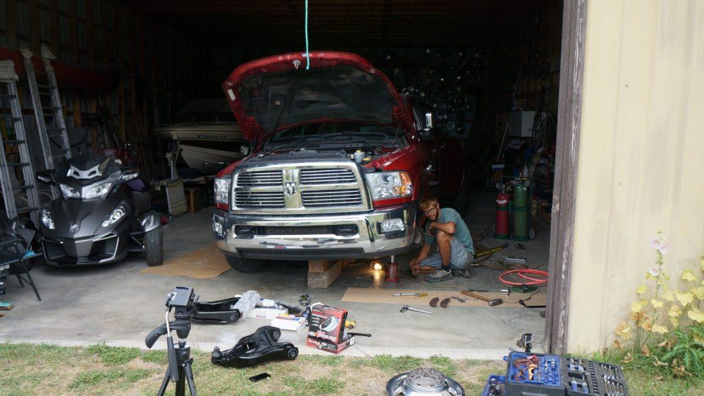 truck front end rebuild