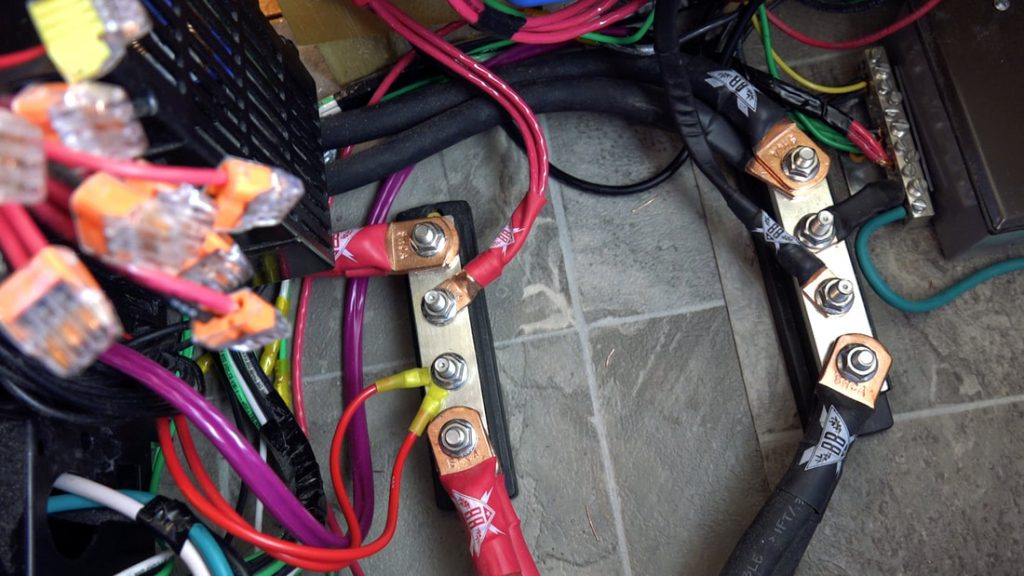 busbars in rv electric install