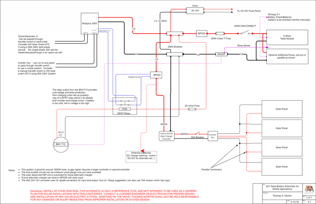 tesla rv electrical schematic