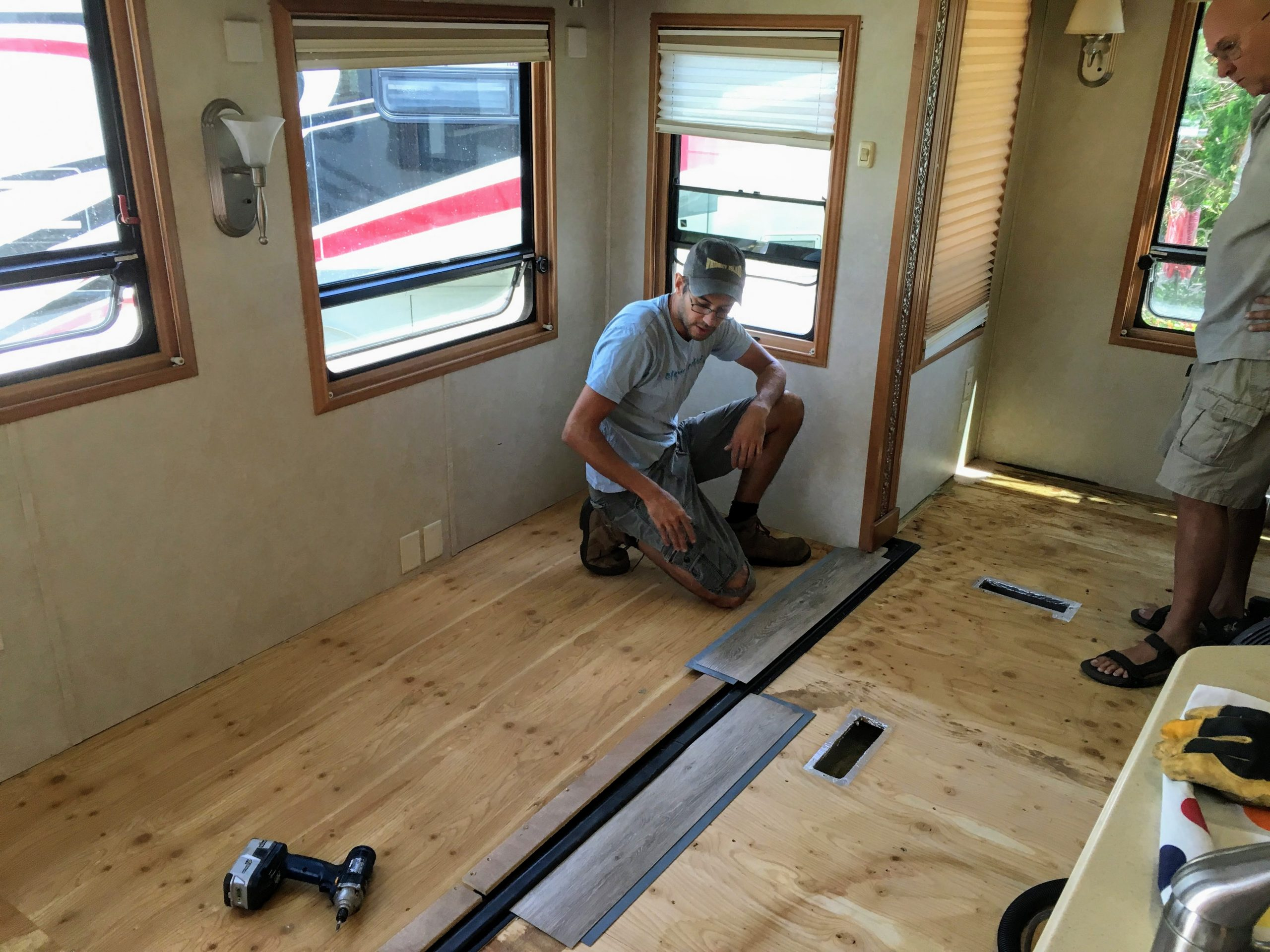 Diy Rv Flooring With A Flush Slideout