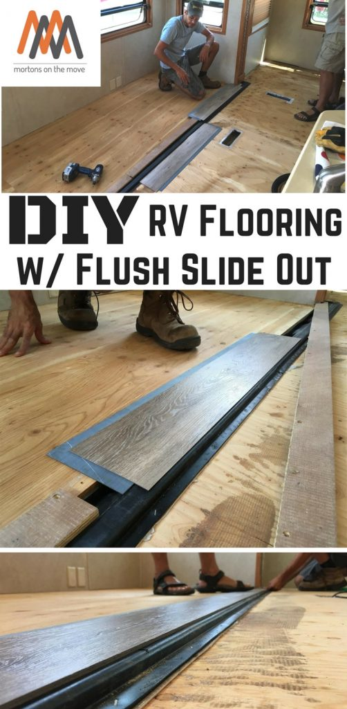 diy rv flooring with flush slideout