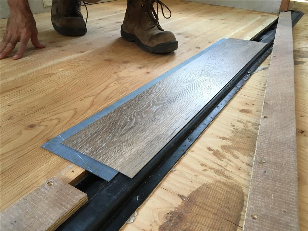 rv flooring flush slideout