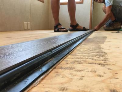 rv flooring on slideout edge