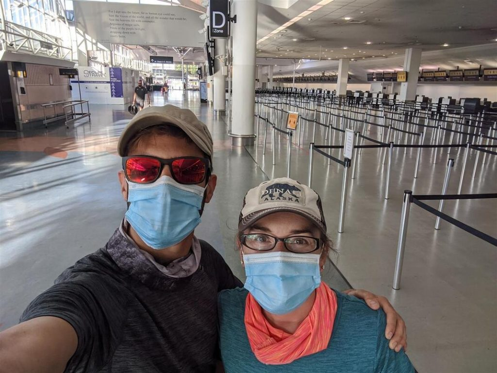 Auckland International Airport in April 2020 during covid-19 pandemic