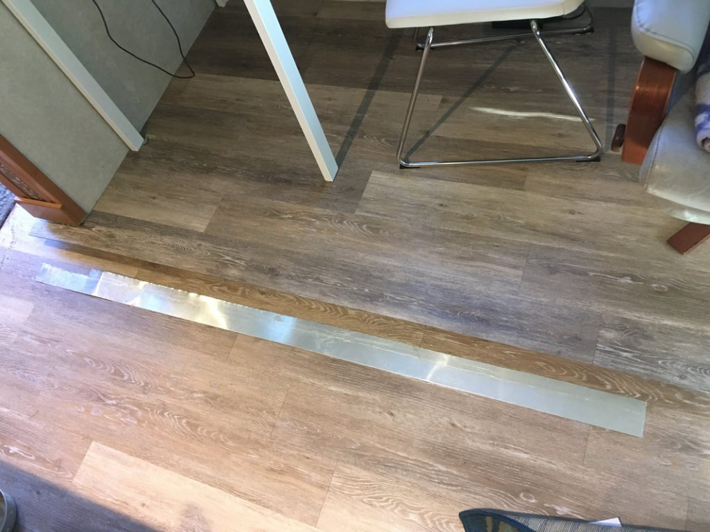 rv flooring metal strip for slideout