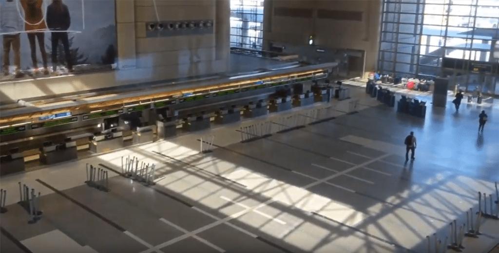 LAX Airport during start of coronavirus pandemic