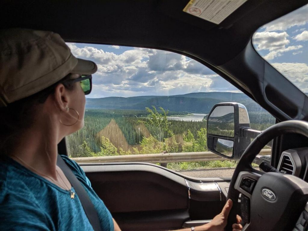 Driving a truck camper through alaska